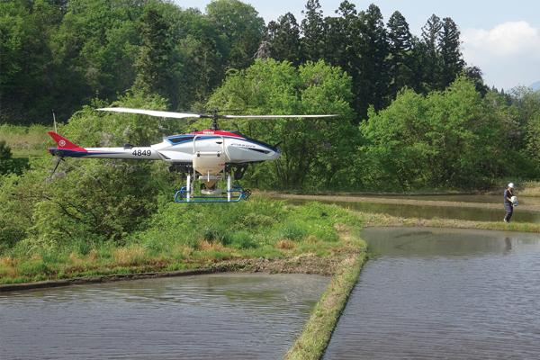 水稲湛水直播(無人ヘリコプター)